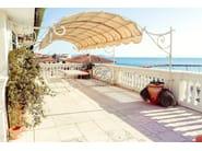 Wall-mounted wrought iron pergola Pergola 9 - Garden House Lazzerini