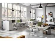 Metal office storage unit with sliding doors PRIMO SLIDING DOORS - Dieffebi