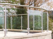 Glass and steel balustrade Q-LINE ® | Glass and steel balustrade - Q-RAILING ITALIA