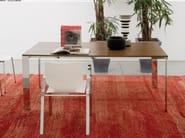 Rectangular steel and wood table QUADRA XXL - Matrix International