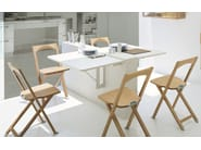 Wall mounted folding table QUADRO - Calligaris