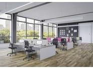 Rectangular Structurex® workstation desk RÉTRO - Buronomic