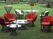 Round garden side table RAVEL | Side table - 7OCEANS DESIGNS