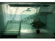 Glass and Stainless Steel Open staircase REGALE - FARAONE