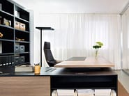 L-shaped sectional executive desk REPORT - Sinetica Industries
