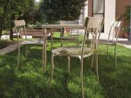 Square steel garden table RETRÒ   Square table - Talenti