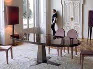 Tavolo da pranzo ovale in marmo RIM | Tavolo in marmo - Longhi