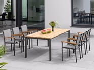Rectangular teak garden table RIO | Teak table - FISCHER MÖBEL