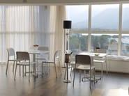 Stackable ergonomic polypropylene restaurant chair RIVA BISTROT - Nardi