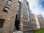 Different ROCKPANEL Woods designs applied on facade in Aberdeen UK