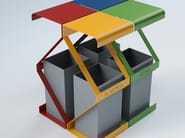 Steel waste bin for waste sorting ROMBO - CITYSì