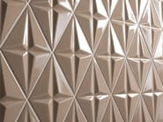 Indoor double-fired ceramic 3D Wall Tile SPACE CONCEPT - RHOMB - ETRURIA design