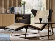 Upholstered leather lounge chair ROMEA - Esedra by Prospettive