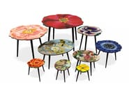 Beech wood and HPL side table ROSE S - Bazartherapy