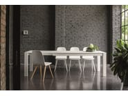 Extending lacquered rectangular table RUBINO | Lacquered table - Dall'Agnese