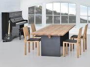 Rectangular solid wood table SAGA - vitamin design