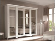 Lacquered wardrobe with sliding doors SALIERI | Mirrored wardrobe - Arvestyle
