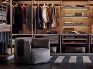 Upholstered leather armchair SANTA MONICA | Leather armchair - Poliform