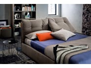 Fabric double bed with tufted headboard SCOTTY - Felis
