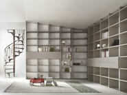 Sectional modular custom bookcase SELECTA - Lema