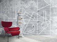 Geometric washable synthetic material wallpaper SENSO - N.O.W. Edizioni
