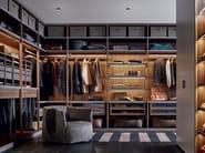 Sectional wooden wardrobe SENZAFINE - Poliform