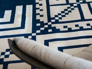 Handmade square wool rug with geometric shapes SERENE - Dare to Rug