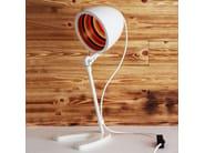 LED height-adjustable handmade brass table lamp SERGEANT PEPPER TABLE LAMP - Mullan Lighting