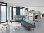 Corner modular fabric sofa SETTLE - BENE