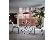 Round crystal living room table SFERA   Table - MOLTENI & C.