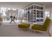 Cherry wood pouf / footstool DAPHNE | Pouf - Morelato