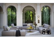 Sectional sofa with removable cover SHANGHAI - BODEMA