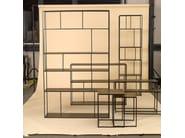 Open copper shelving unit SHELF FRAME | Copper shelving unit - Pols Potten