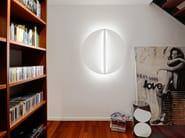 LED acrylic glass wall light SHIELD ROUND   Wall light - millelumen