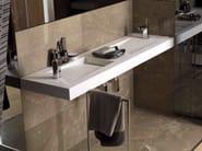 Double rectangular wall-mounted natural stone washbasin SHIMA - L'Antic Colonial
