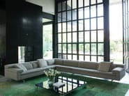 Fabric sofa with chaise longue SHIVA | Fabric sofa - Jori