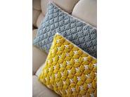 Rectangular hand embroidered fabric cushion SILAÏ | Rectangular cushion - GAN By Gandia Blasco