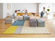 Handmade rectangular fabric rug SILAÏ | Rug - GAN By Gandia Blasco