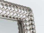 Freestanding rectangular framed mirror SILVER PEARLS 180 x 48 - KARE-DESIGN