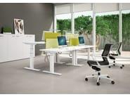 Height-adjustable workstation desk SIT&STAND - Quadrifoglio Sistemi d'Arredo