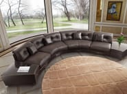Sectional upholstered round leather sofa SITTING BLA | Sofa - Formitalia Group