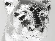 Soprammobile in resina SITTING CAT RIVET CHROME - KARE-DESIGN