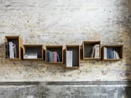 Wall-mounted bamboo bookcase SJ BOOKCASE LARGE - We Do Wood