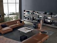 Modular wooden TV wall system SKIP - Poliform