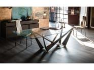 Rectangular crystal table SKORPIO - Cattelan Italia