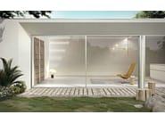 Aluminium and wood patio door SLIM 80 LA - Pail Serramenti