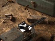DK chromed brass window handle on rose SLIM PELLE   DK window handle - LINEA CALI'