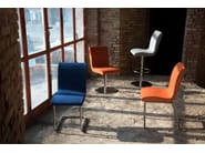 Contemporary style upholstered fabric reception chair SLIM | Chair - Domingo Salotti