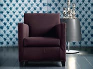 Fabric armchair with removable cover with armrests SMALL - Casamilano
