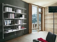Wall-mounted sectional bookcase SOCRATE HOME | Wall-mounted bookcase - Caimi Brevetti